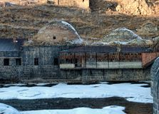 Remains of an old Ottoman public bath in Kars. Eastern Turkey Royalty Free Stock Images