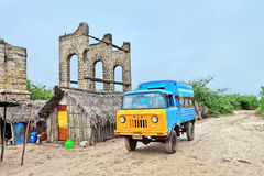 Remains of the Old Railway Station at Dhanushkodi Stock Image