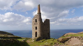 The remains of an old tin and copper mine on the cliffs of Cornwall UK Stock Photo
