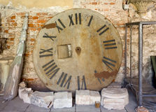 Remains of an Old Tower Clock Stock Image