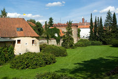Remains of old town fortification in Trebon. Czech Republic Stock Photos
