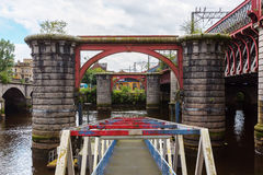 Remains of the original Caledonian Bridge in Glasgow Stock Images