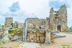 Remains of Perge Stock Image