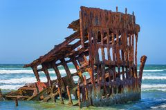 Peter Iredale Ship Wreck royalty free stock photo