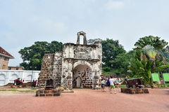 Remains Portuguese A Famosa Fort Stock Photo