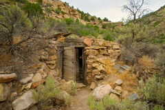 Remains of Prospector Cabin Stock Image