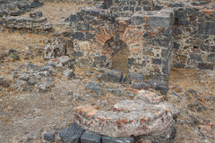Remains of the public baths in the historic centre of Catania Royalty Free Stock Photography