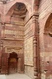 Remains of Qutub mosque in Delhi (India),islamic landmark,India Stock Photo