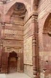 Remains of Qutub mosque in Delhi (India),islamic landmark,India stock photo