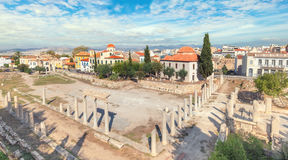 Remains of the Roman Agora in Athens, Greece Royalty Free Stock Images