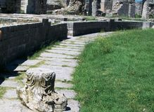Remains of Roman amphitheater Stock Images
