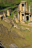 Remains of Roman Amphitheatre in Volterra Stock Photos