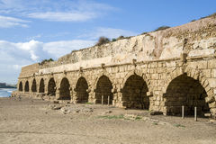 Remains of the Roman Aqueduct, Israel Royalty Free Stock Photos