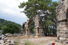 Remains of the Roman aqueduct Stock Image