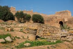 Remains of Roman city of Chellah necropolis. Rabat. Morocco. Royalty Free Stock Photos