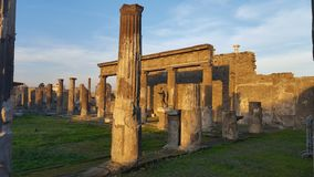 Remains of a roman temple Stock Photo