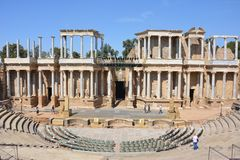 Teatro Romano de Marida Royalty Free Stock Images