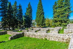 Remains of Roman villa rustica that dates from fourth century Royalty Free Stock Photos