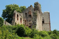 Remains Ruin of Landeck, Schwarzwald, Deutschland royalty free stock photography