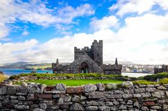 Remains Saint Patrick`s Chapel inside Peel Castle, Isle of Man Royalty Free Stock Photos
