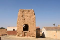 Remains of San Pedro Church, Valdunquillo,Valladolid province Stock Photos