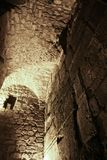 The remains of the second Jerusalem temple are preserved in the. Dungeons of the Temple Mount. Israel, Jerusalem: the remains of the second Jerusalem temple are stock image