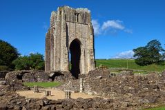 The Remains of Shap Abbey Stock Image
