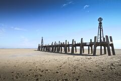 Remains of St Annes Pier Landing Jetty Royalty Free Stock Photo