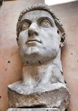 Colossal statue of Constantine: head Stock Image