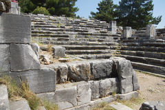 Remains of steps and stone seats Royalty Free Stock Photos