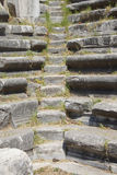 Remains of steps and stone seats Stock Image