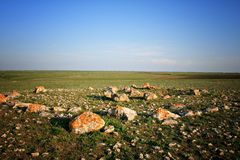 Remains of a stone circle Royalty Free Stock Photography