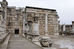 Remains of a synagogue, Capernaum Stock Photography