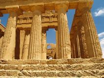 Remains of the temple of Agrigento Royalty Free Stock Photos