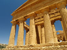 Remains of the temple of Agrigento Stock Photos