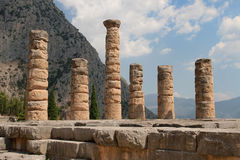 Remains of Temple of Apollo Royalty Free Stock Photography