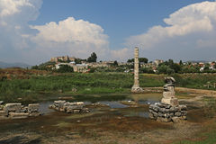 Remains of the Temple of Artemis Royalty Free Stock Photos