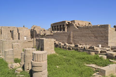 Remains of the temple of Dendera. Remains and ruins of the ancient egyptian temple at dendera Royalty Free Stock Photo