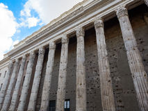 Remains Temple Hadrian piazza Pietra Rome Italy Royalty Free Stock Photography