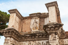 Remains of the Temple of Minerva, Rome, Italy Stock Image