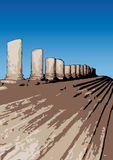 Remains of a temple (vector) Royalty Free Stock Photography