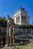 Remains of Temple of Vesta in Roman Forum stock photo