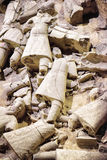 Remains of terracotta soldiers of the famous Terracotta Army Royalty Free Stock Image