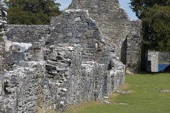 Remains of 7th century Innisfallen Abbey on Innisfallen Island Stock Images