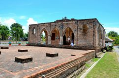 Remains of the 18th century Krue Se Mosque Pattani Thailand. Pattani, Thailand - May 7, 2017: The damaged remains of the Krue Se Mosque in Thailand`s southern stock image