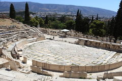Remains of the Theater of Dionysus Royalty Free Stock Image
