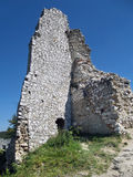 Remains of tower, Cachtice castle, Slovakia Royalty Free Stock Photo