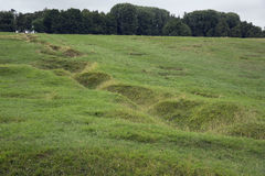 Remains of a trench in the Newfoundland Memorial. In France, Beaumont Stock Photos