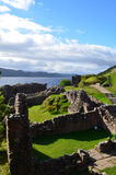 The Remains of Urquhart Castle in the Scottish Highlands Stock Image