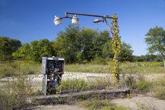 Remains of Vintage Gas Station Royalty Free Stock Images